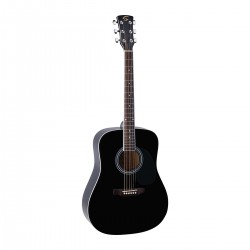 SOUNDSATION YELLOWSTONE-DN-BK CHITARRA ACUSTICA DREADNOUGHT CON TOP IN ABETE