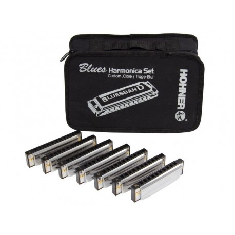 HOHNER BLUES HARMONICA SET (borsa Bluesband con 7 armoniche)