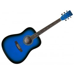 DARESTONE AG1 Blue Lucida SUNBUSRTS Chitarra acustica