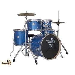 "TAMBURO T5 T5P20 BLSK BATTERIA CON CASSA 20"" BLUE METALLIZZATA"