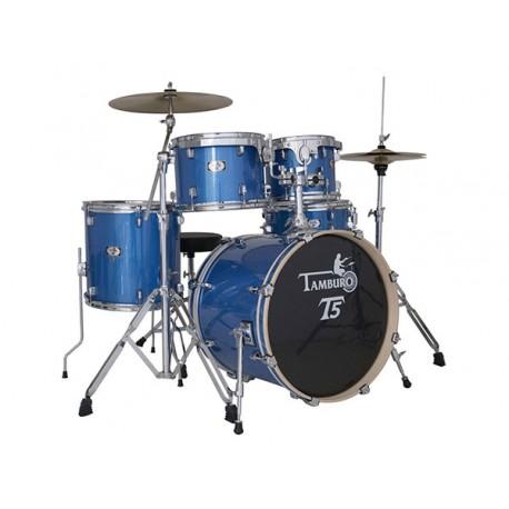 "TAMBURO T5S22 BLSK BATTERIA CON CASSA 22"" BLUE METALLIZZATA"