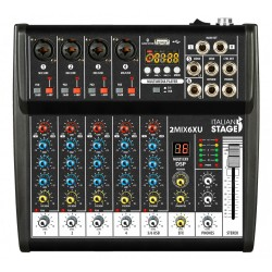 ITALIAN STAGE 2MIX6XU Mixer con interfaccia USB e Bluetooth
