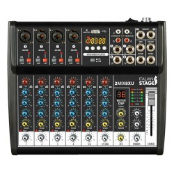 ITALIAN STAGE 2MIX4XU Mixer con interfaccia USB e Bluetooth