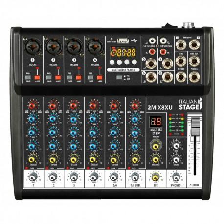 ITALIAN STAGE 2MIX4XU Mixer con interfaccia USB e Bluetooth