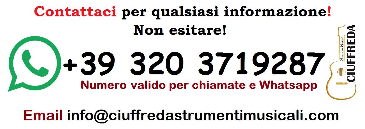 Ciuffreda strumenti musicali whatsapp contact